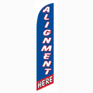 Alignment Here Blue And Red Feather Flag